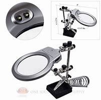 Illuminated Helping Hands with 90mm Magnifier (ANG71G)
