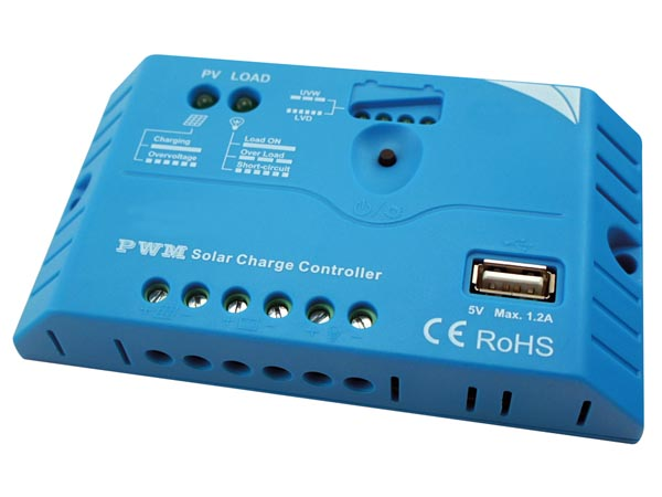 PWM SOLAR CHARGE CONTROLLER WITH USB OUTPUT (APN09G)