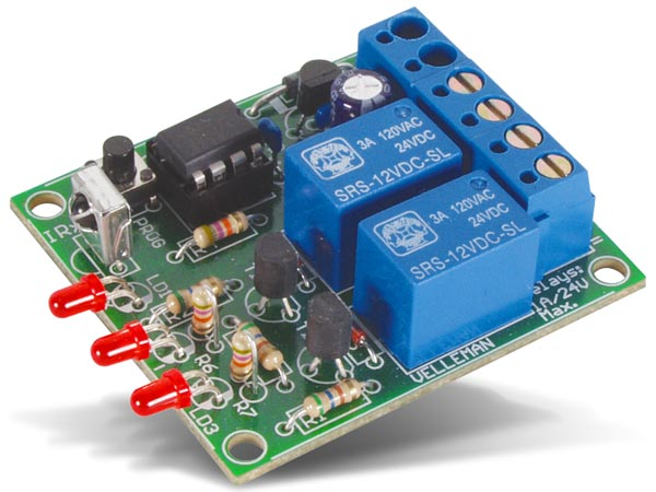 2-CHANNEL IR REMOTE RECEIVER (VEL08E)