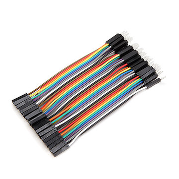 40pcs 10cm Male To Female Jumper Cable Dupont Wire (ARD23E)