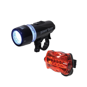 LED Front & Rear Cycle Light Set (AMF57G)