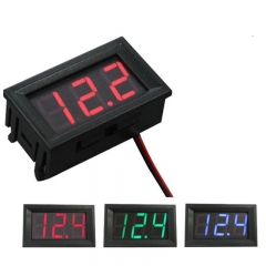 0.28 Inch 2.5V-30V Mini Digital Voltmeter, Yellow (AMG63G)