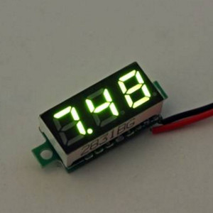 0.28 Inch 2.5V-30V Mini Digital Voltmeter, Green (AMG65G)