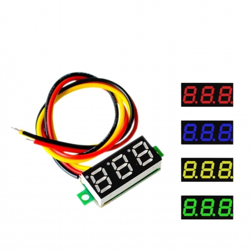 0.28 Inch 2.5V-30V Mini Digital Voltmeter, Red (AMG67G)