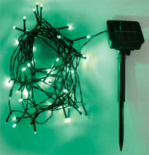 Outdoor String Lights 50 LEDs, 6m, Green (AMH79G)