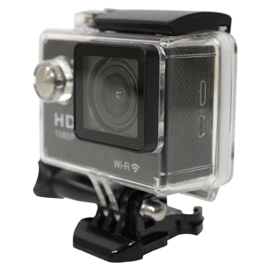 Action Camera with Wifi and Mounting Accessories (AMJ10G)