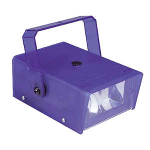 Mini Strobe Effect, Blue Plastic Case (AND36G) - Click Image to Close