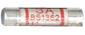 3A Ceramic UK Style Fuse, 10-pack (APM01G) - Click Image to Close