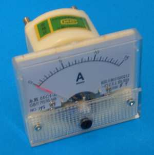 Panel Meter, 15A DC (BCM24G) - Click Image to Close