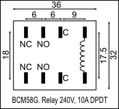 Relay 240V, 10A DPDT, with Base (BCM58G) [BCM58G] - R96.12 : Yebo ...