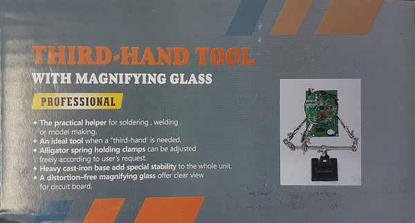 Helping Hand with Magnifier 60 mm (DYN016)