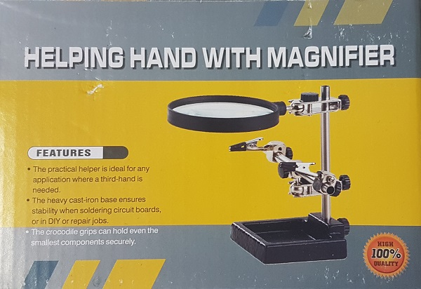 Helping Hand with Magnifier 90 mm (DYN017)