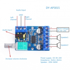 TDA2030A Stereo Audio Amp Module, 18W (KIT15S)