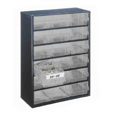 Organiser 18 Drawer, Black finish (SPE08G)