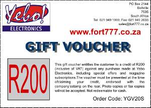Gift Voucher, R200 (YGV20S) - Click Image to Close